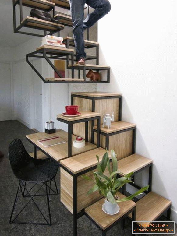Необычные лестницы для дачи фото